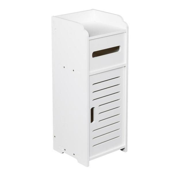 Ktaxon Bathroom Floor Cabinet,Free-Standing Storage Organizer Set Single Shutter Door Cupboard for Bathroom Living Room Hallway Bedroom Kitchen (White)