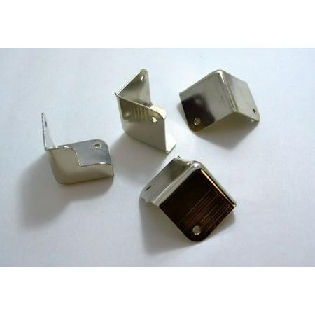 4 Pieces Metal Nickel Finish Cabinet Corner For Dj And Speaker Bo 1 5 X1