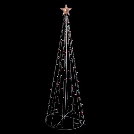 Northlight 6' Red and Green Lighted Twinkling Show Cone Christmas Tree Outdoor Decoration ()