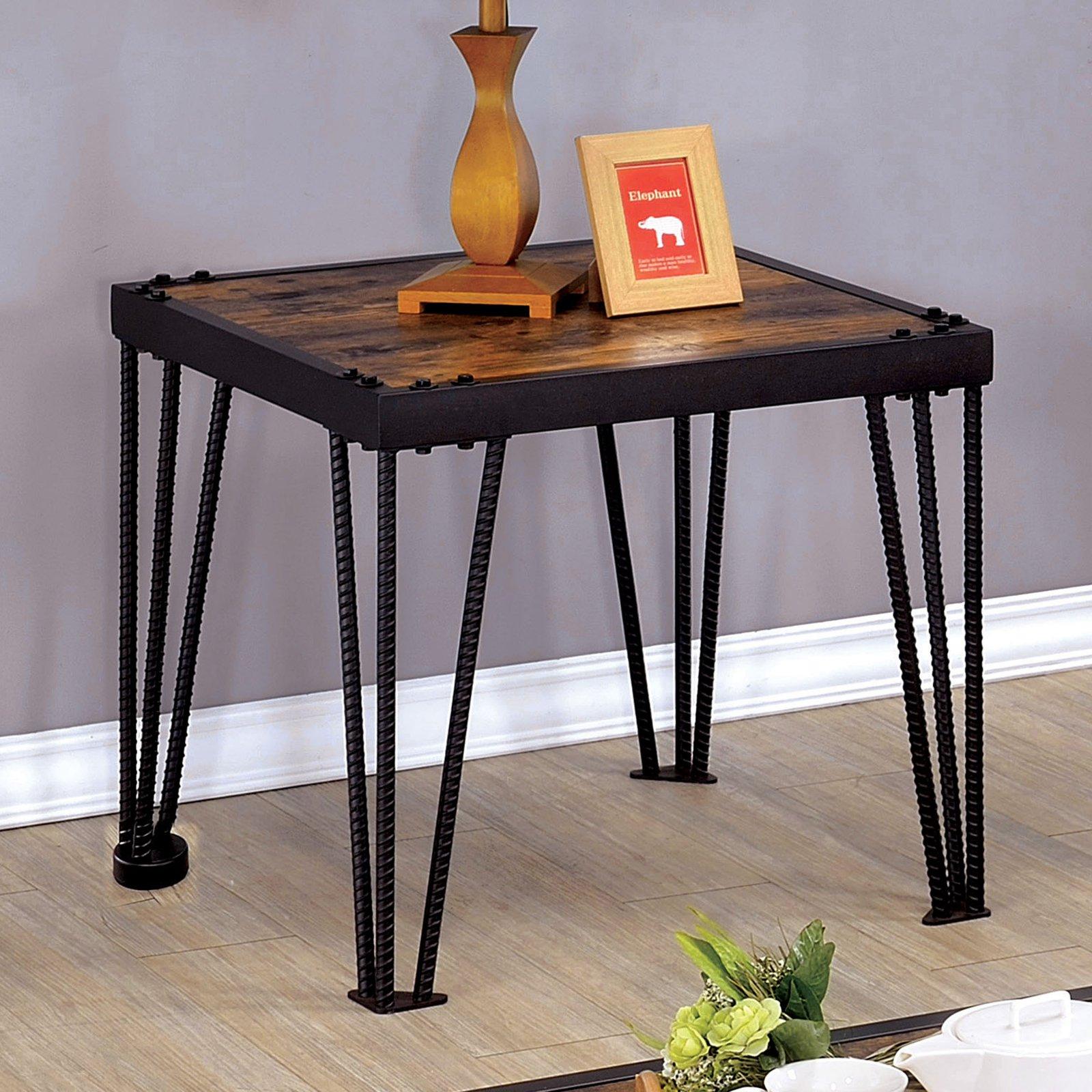 Furniture of America Marx Barred Leg End Table