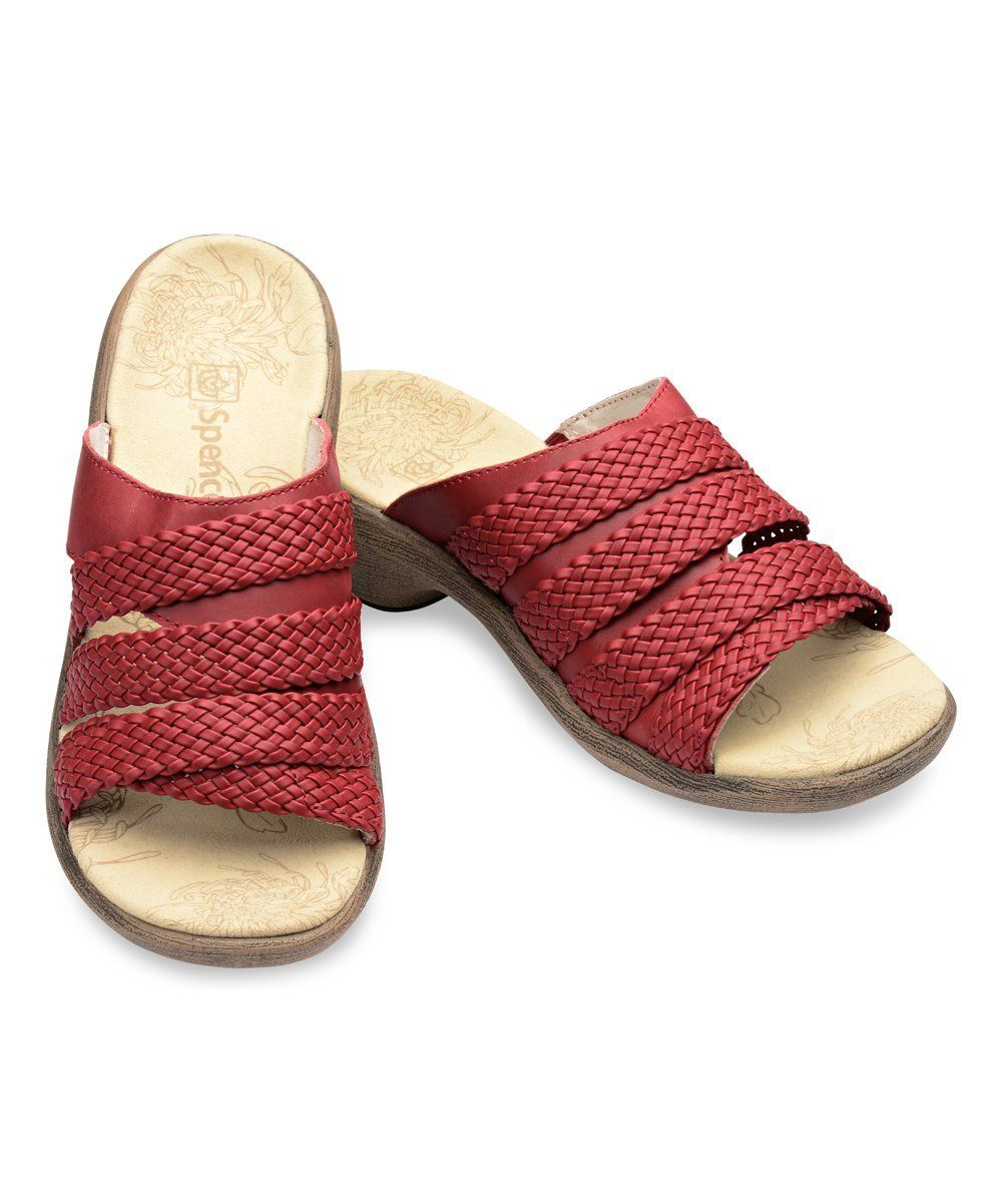 New Spenco Virginia Total Arch Support Orthotic Red-Taobao-Mr/Ms Slip On Slide Sandals Red-Taobao-Mr/Ms Orthotic 996ef6