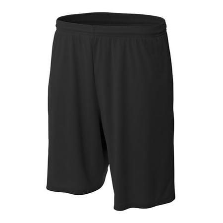Pro Line Performance Mesh Youth Basketball Shorts (Black, Medium) - Black,Medium ()