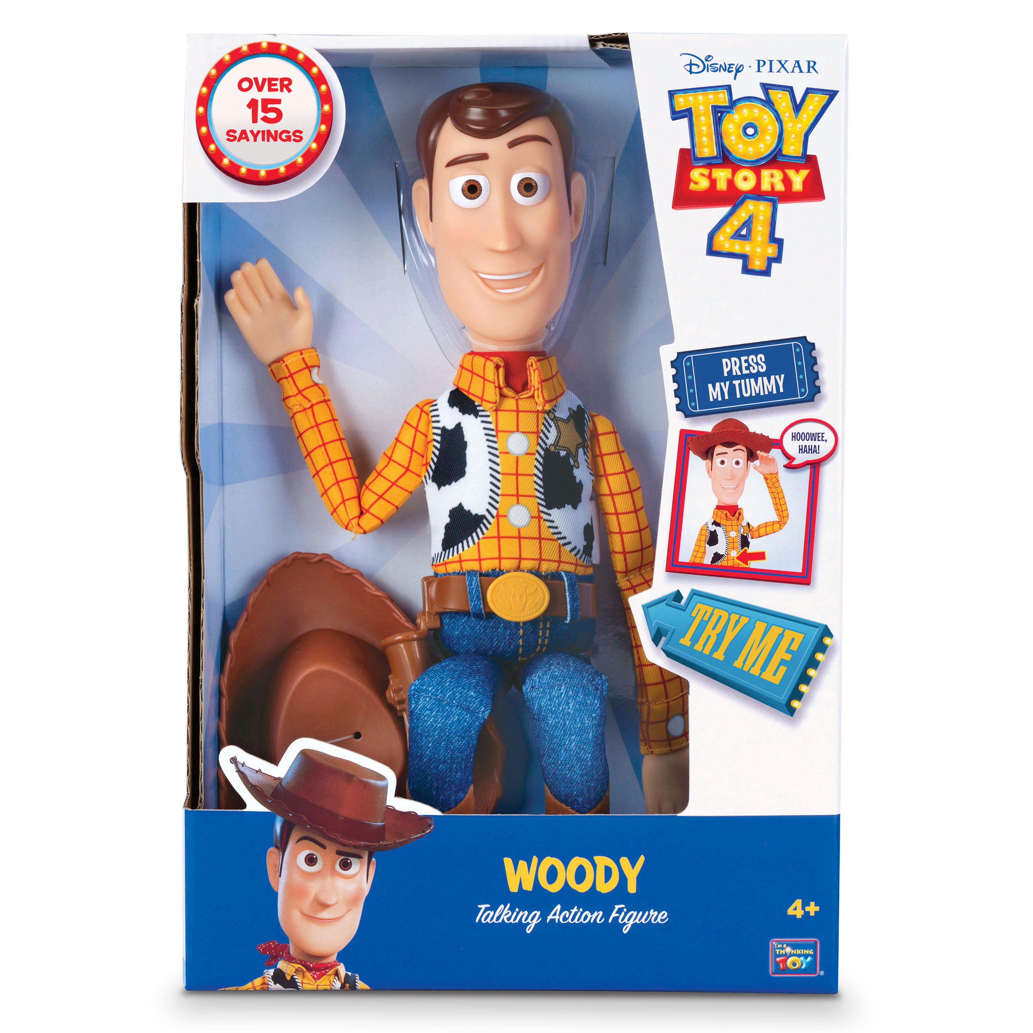 "Disney Pixar Toy Story 4 Sheriff Woody 16/"" Action Figure Kid Toy Gift"