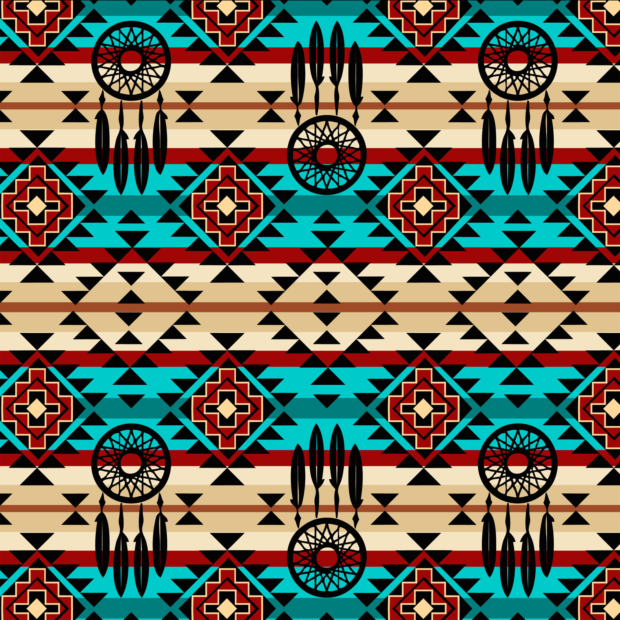 David Textiles Cotton Precut Fabric Native Spirit Collection 1 Yd X 44 Inches