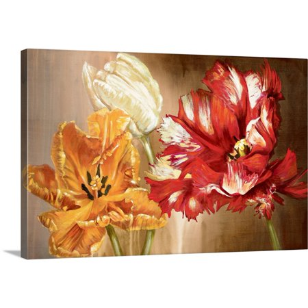 Great BIG Canvas | Selina Werbelow Premium Thick-Wrap Canvas entitled Tulips - One Tulip Canvas