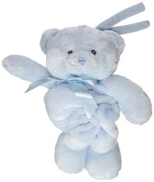 """Baby GUND My First Teddy Bear Stuffed Animal Plush Pulllstring Musical Toy, Blue, 13"""" by Gund"""