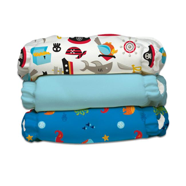 Charlie Banana 888365 3 Diapers 6 Inserts Oceana One Size Hybrid AIO