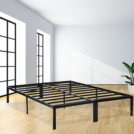 - Bed Frame Platform Bed Frame Full Metal Base Mattress Foundation Frame 14 Inch Portable Heavy Duty Steel Replaces Box Spring With Black