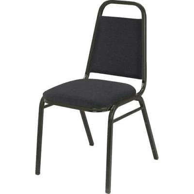 Stack Chair With 1.5 Inch Upholstered Seat. Steel Frame In Black Powder-Coat