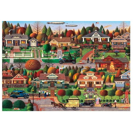 Buffalo Games 1000 Piece Puzzle, C Wysocki: Labor Day in Bungalowville (Halloween Printable Puzzles Games)