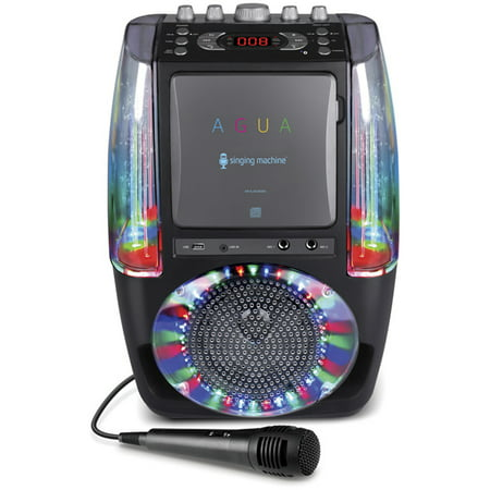 Singing Machine Agua Dancing Water Fountain Karaoke System with LED Disco Lights ()