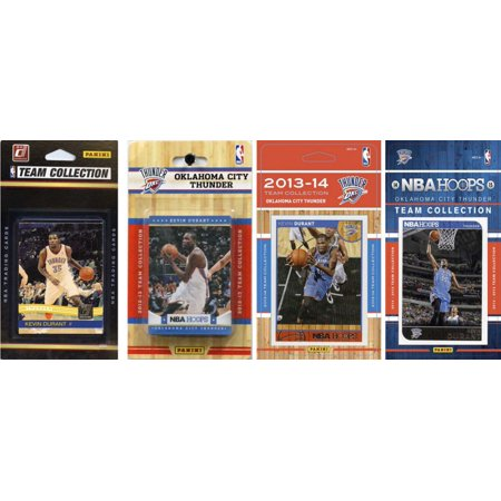 C Collectibles Nba Oklahoma City Thunder 4 Different Licensed Trading Card Team Sets O S