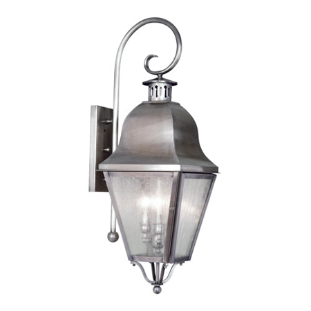 Wall Sconces 3 Light With Seeded Glass Vintage Pewter size 32 in 180 Watts - World of Crystal