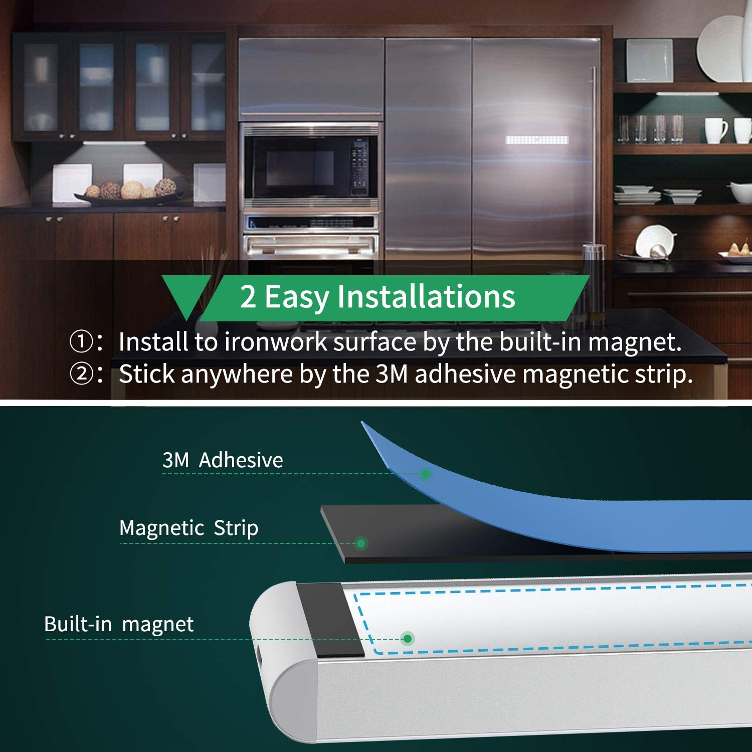 Led Closet Light 50 Led Dimmer Usb Rechargeable Motion Sensor Light Under Cabinet Wireless Stick Anywhere Night Light Bar With 1500mah Battery For Stairs Wardrobe Kitchen 2 Packs Walmart Com Walmart Com