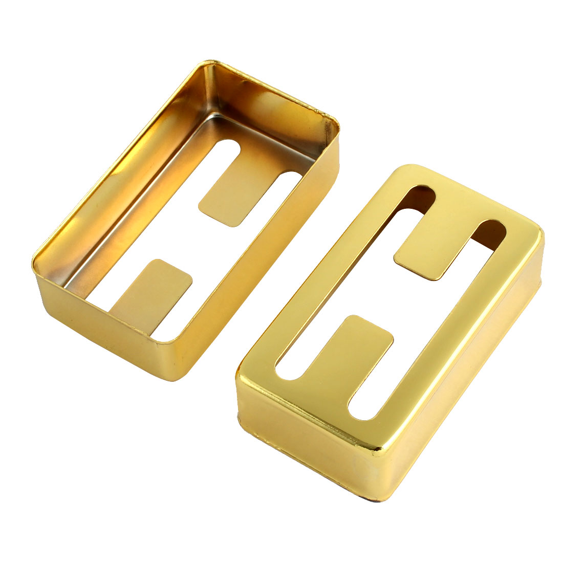 H Design Acoustic Humbucker Guitar Pickup Cover Gold Tone 7cm x 4cm x 2cm 2pcs