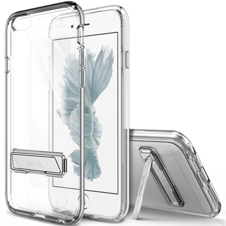 Naked Case - OBLIQ, iPhone 6S Plus Case [Naked Shield][Clear] Metal Kickstand Slim Crystal Clear Back Anti Scratch Protective Cover for Apple iPhone 6 Plus & iPhone 6S Plus