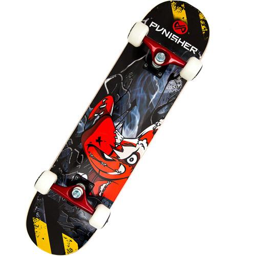 """Punisher Skateboards 31"""" ABEC-5 Complete Skateboard, Teddy"""