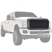 11-16 Ford Super Duty F-250 F-350 Grille Carbon Fiber Style ABS Replacement Mesh Grill With Shell