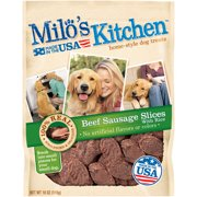 Milo`s Kitchen Home-Style Beef Sausage Slices with Rice Dog Treats, 18 oz