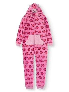 Chili Peppers Girl's Sleep Pajama Critter Union Suit Pajama Blanket Sleeper Onesie (Little Girls & Big Girls)