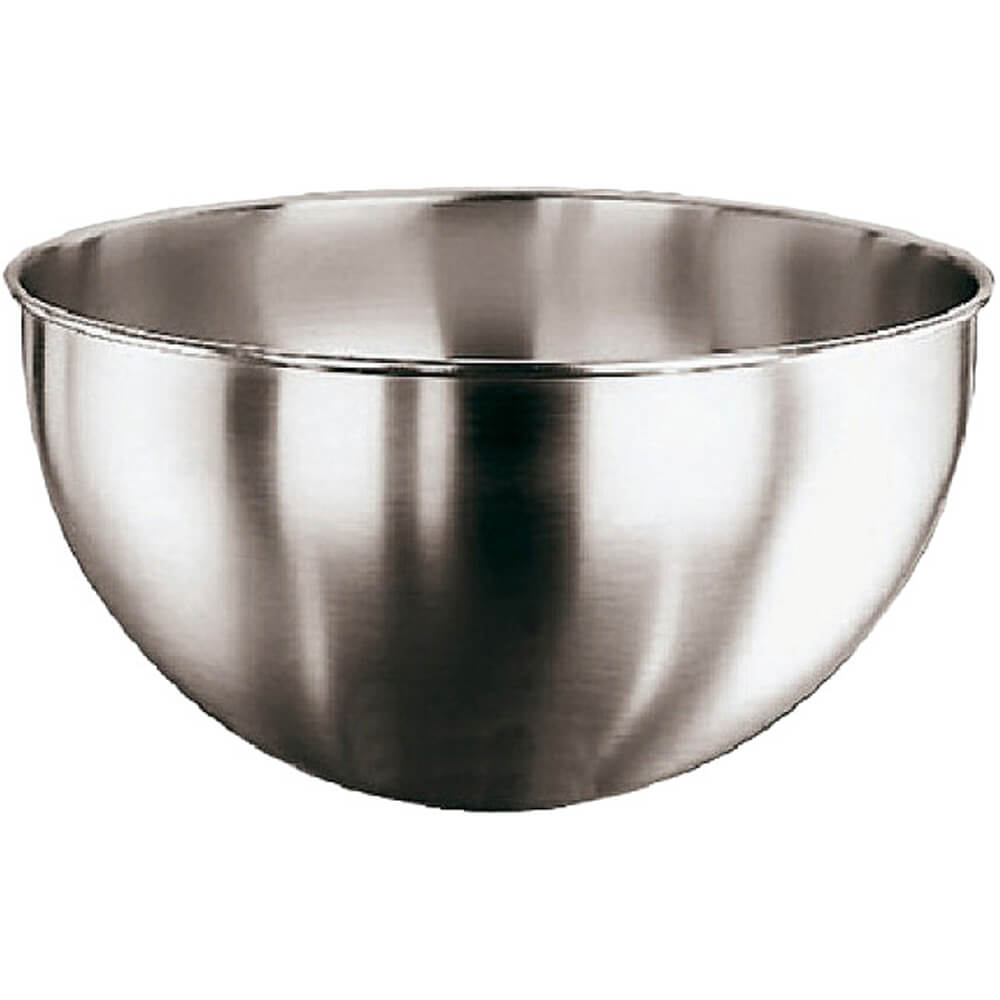 Paderno World Cuisine Mixing Bowl, 1/2 Sphere, No Handle, 2.87 Qt, Stainless Steel, 11951-22