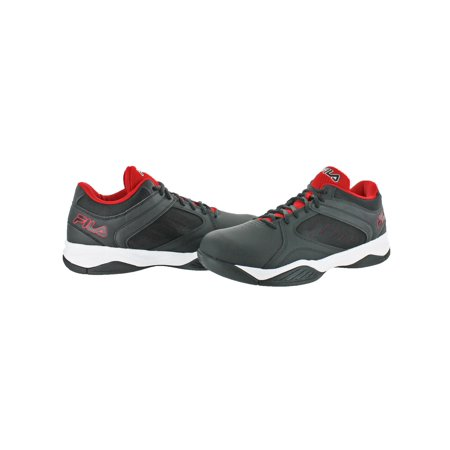 Fila Mens Bank Leather Lightweight Basketball Shoes