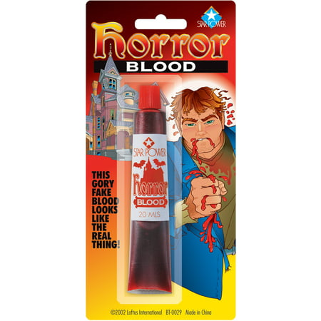 Star Power Gory Halloween Horror One Size (20 mL) Fake Blood, Red - Red Halloween Drink Names