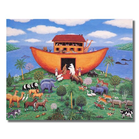 Noahs Ark Animals Kids Room Wall Picture Art Print #1