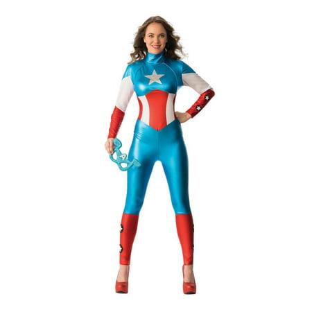 Adult Marvel American Dream Costume - Female Captain America - 4 sizes - Captain America Shield Adults