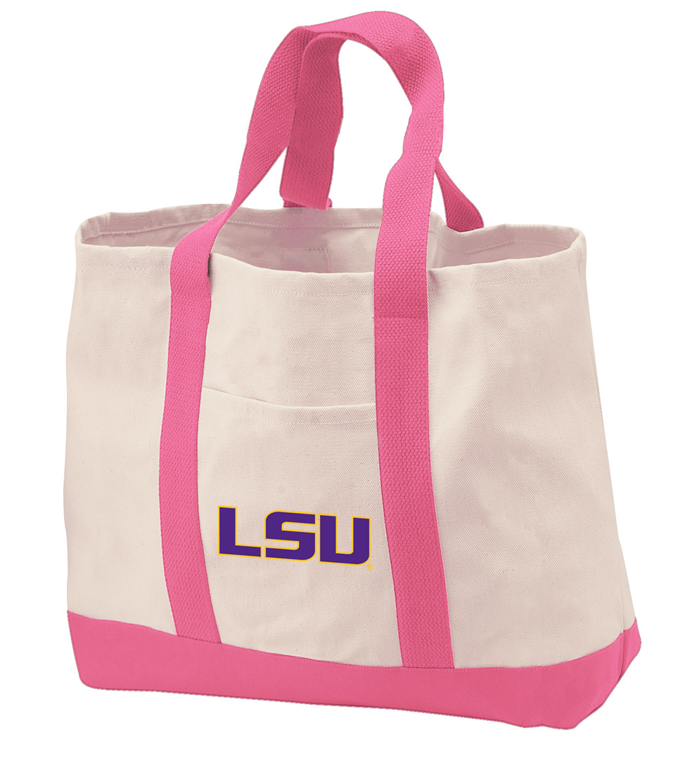 LSU Tigers Tote Bag CANVAS LSU Tigers Tote Bags for TRAVEL BEACH SHOPPING