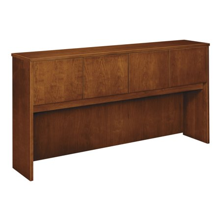 (basyx Wood Veneer Hutch With Wood Doors, 72w x 14-5/8d x 37-1/8h, Bourbon Cherry)