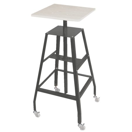 Jack Richeson Adjustable Economy steel Heavy Duty Floor Sculpture Pottery Stand