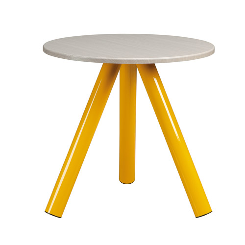 Sauder Soft Modern Collection Side Table, Yellow and White