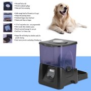 Black & Purple Automatic Pet Feeder Dog Cat Programmable Animal Food Bowl Auto Dispenser Dog Feeding;Feeding Supplies
