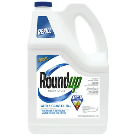 Roundup Ready-To-Use Weed & Grass Killer III Refill 1.25 (Best Grass Killer For Flower Beds)