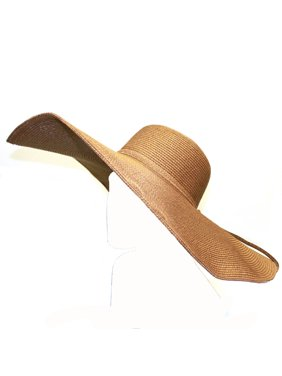 City Hunter Women Pmf100 7 Inch Wide Wired Brim Sun Floppy Hat 4 Colors (Brown)