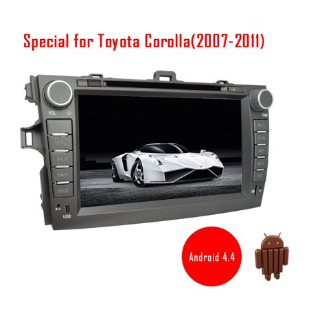 Android 4 4 Car Dvd Player Gps Navigation For Toyota Carola  2007 2011  8 Inch Capacitive Touch Screen Support Dvd Vcd Mp3 Mp4 Etc Built In Bluetooth Wifi Free 3D Gps Navigation Map Am Fm Radio Eq Ad