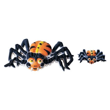 Spider Assortment Sugar Decorations Toppers Cupcake Cake Cookies Halloween 12 Count
