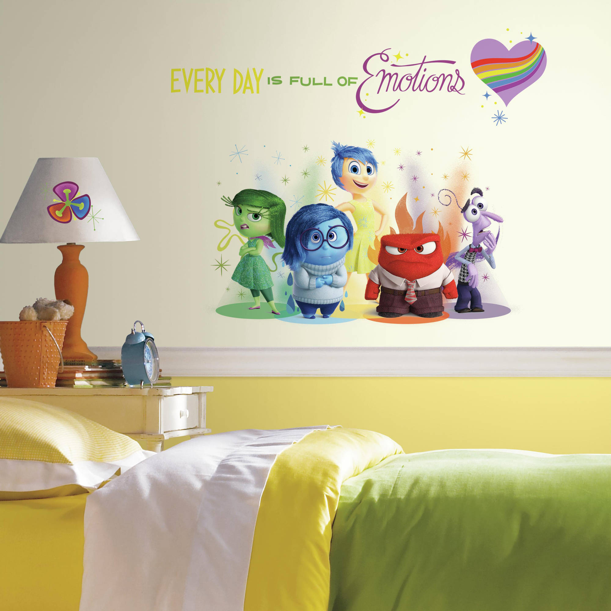 RoomMates Inside Out Burst Peel and Stick Giant Wall Decals