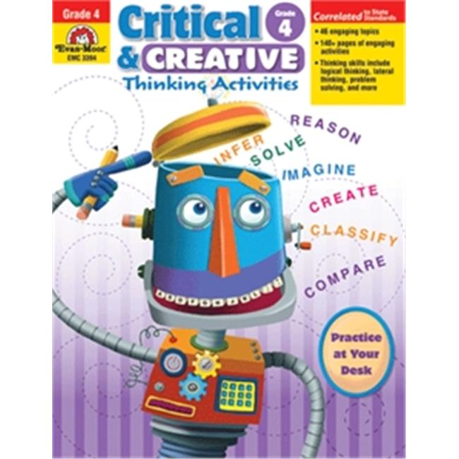 Evan-Moor Educational Publishers 3394 Critical & Creative Thinking Activities - Grade 4 - image 1 of 1