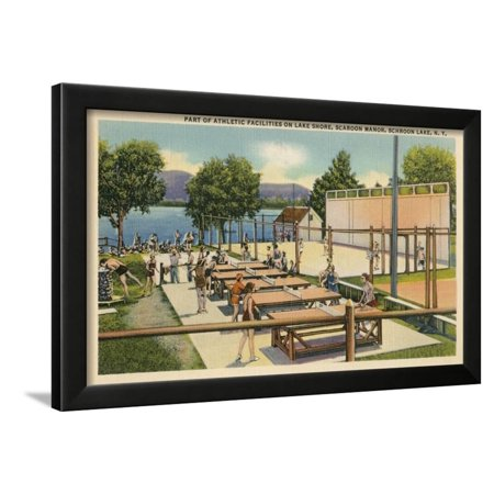 (Ping Pong at Schroon Lake, New York State Framed Print Wall Art)
