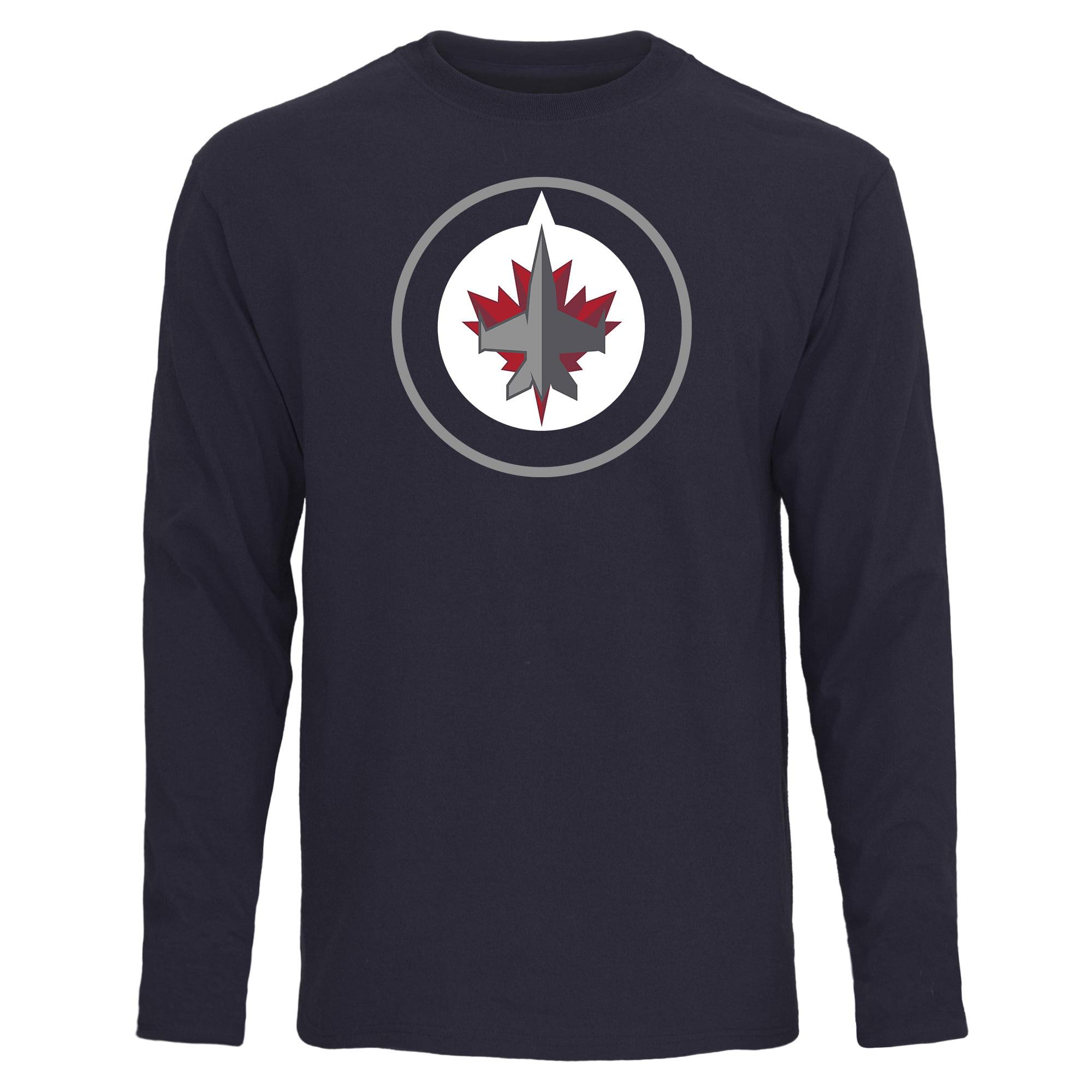 Winnipeg Jets Rinkside Fan Big Logo Long Sleeve T-Shirt - Navy