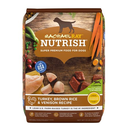 Rachael Ray Nutrish Natural Dry Dog Food, Turkey, Brown Rice & Venison Recipe, 13