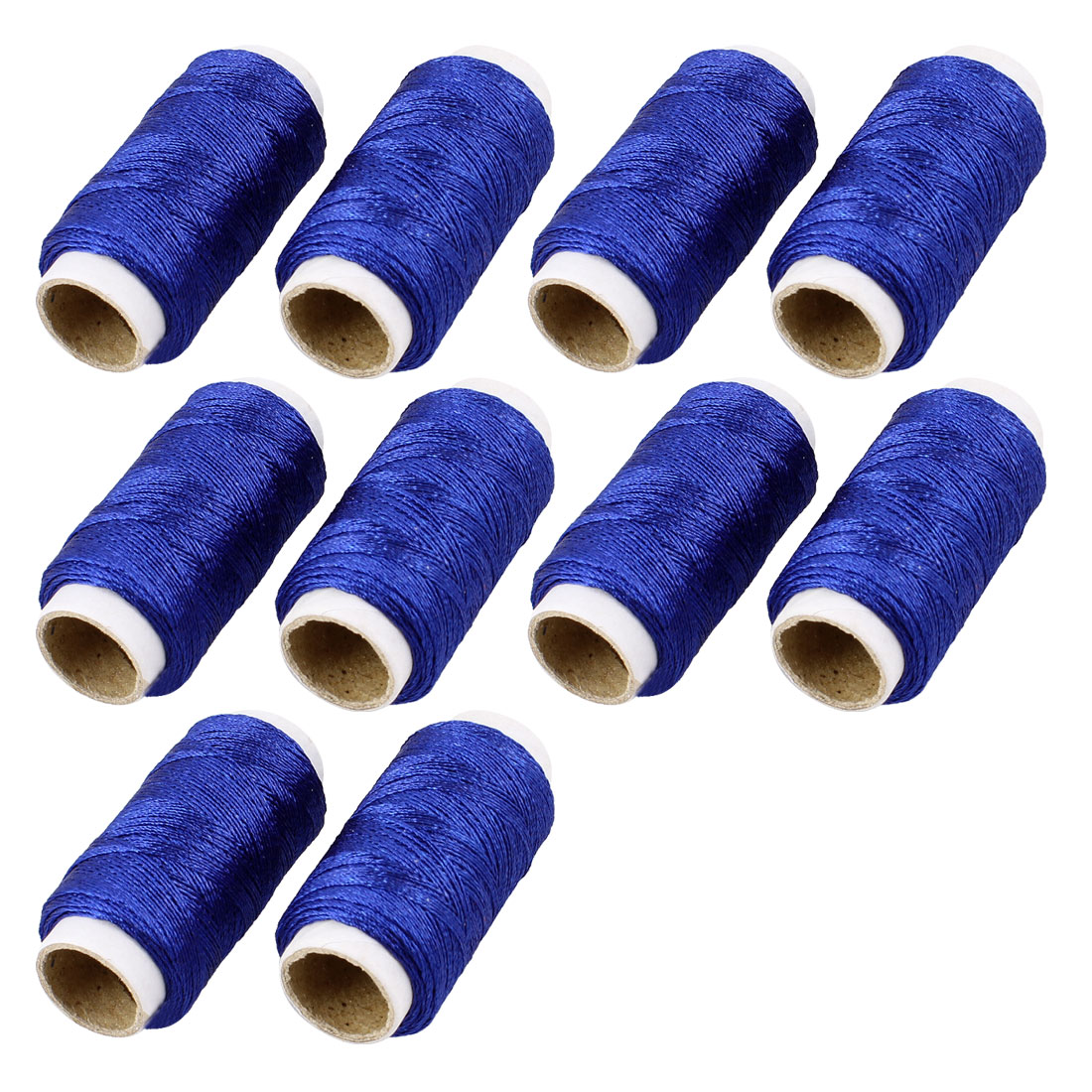 10 Spools Royal Blue Polyester String Thread Reel Needlework Sewing Kit