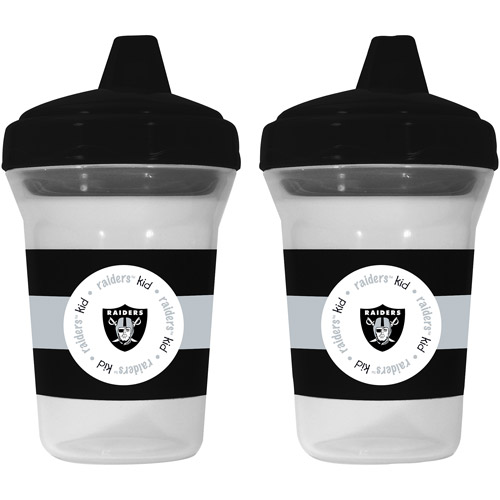 Baby Fanatic Oakland Raiders 2-Pack Sippy Cup, BPA-Free