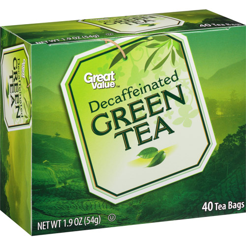 Great Value Decaffeinated Green Tea Tea Bags, 40ct