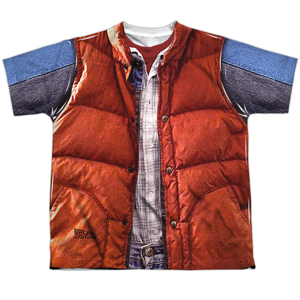 Back to the Future Mcfly Vest Big Boys Sublimation Shirt