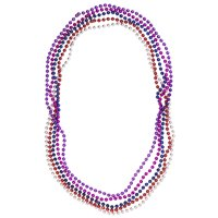 "Way to Celebrate 50ct Assorted Colors 33"" Mardi Gras Beads Party Favors"
