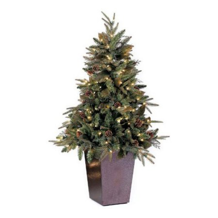 gkibethlehem lighting green river spruce potted pre lit medium christmas tree
