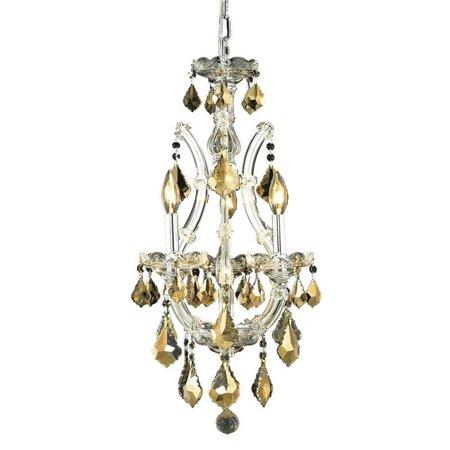 18 Light Maria Theresa Crystal (Elegant Lighting Maria Theresa 4 Light Royal Crystal Chandelier)